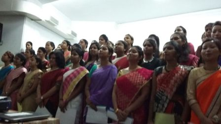 B.Ed students proclaiming their Oath